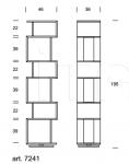 Книжный стеллаж Osuna 7241 Tonin Casa