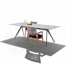 Итальянские уличные стулья - Стул с подлокотником Ortigia Outdoor фабрика Flexform