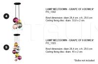 Потолочная лампа Meltdown Cappellini