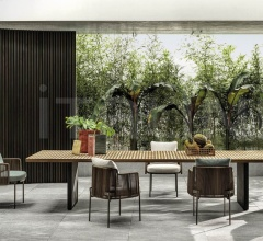 Итальянские уличные столы - Стол обеденный Quadrado Table фабрика Minotti