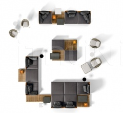 Итальянские уличные диваны - Модульный диван Quadrado фабрика Minotti