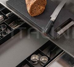 Итальянские угловые кухни - Кухня 36e8 Marble XGlass Kitchen 1089 фабрика Lago