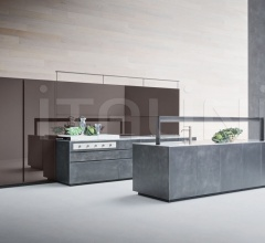 Кухня Artematica Structured Lacquer Steel фабрика Valcucine
