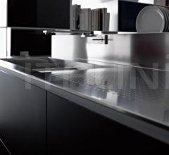 Кухня Artematica Vitrum Nero Lavagna фабрика Valcucine