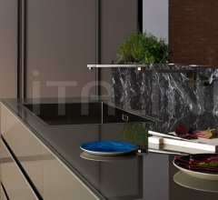 Кухня Artematica Vitrum Gloss glass Earthy brown фабрика Valcucine