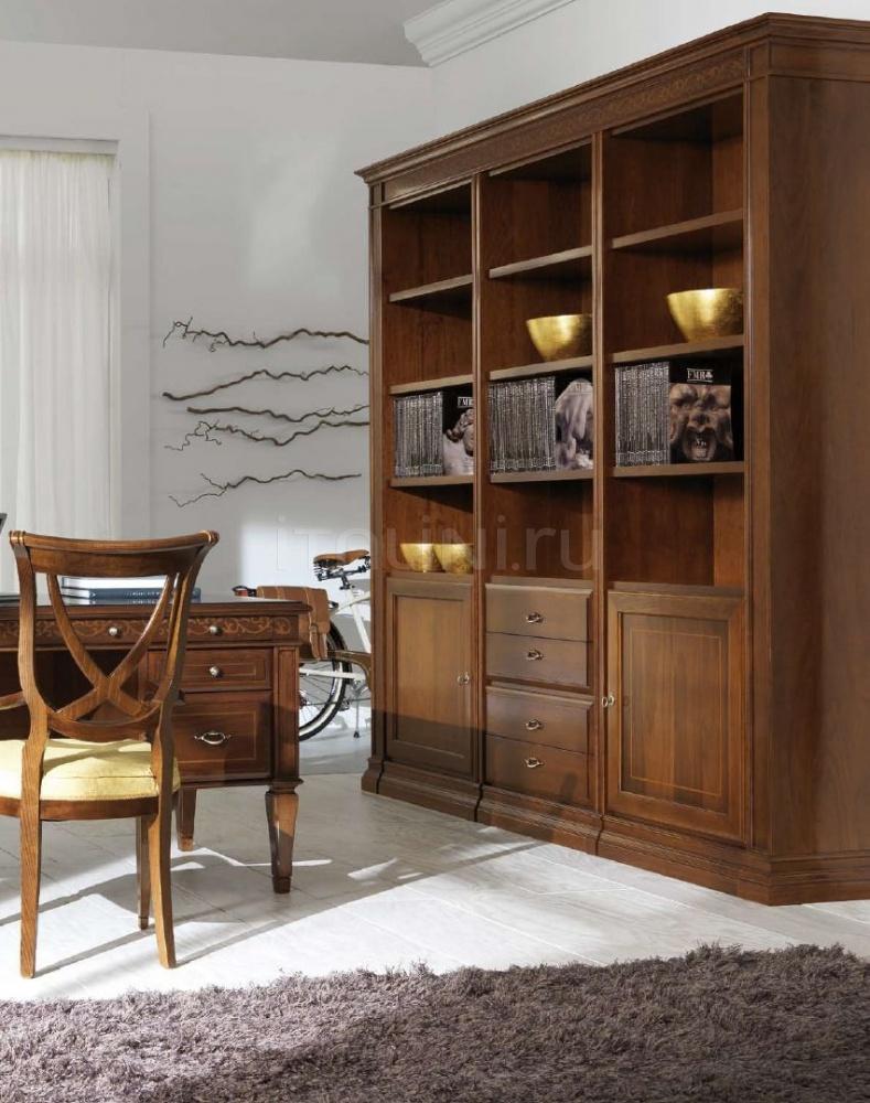 Книжный шкаф от stilema с размерами 242,2*45*235 см.