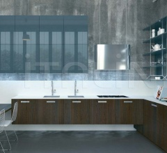 Итальянские угловые кухни - Кухня Noblesse Oblige Rovere Termotrattato фабрика Aster Cucine