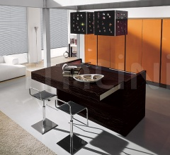 Кухня Contempora Ebano naturale фабрика Aster Cucine