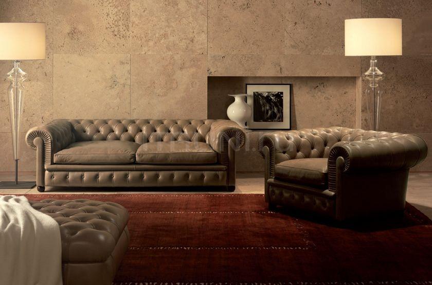 Трехместный диван Chester One Poltrona Frau
