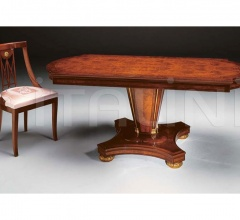 Preciously decorated table Antiques shop  - IMPERO / Dining table with base B