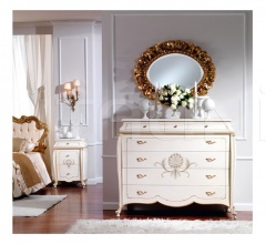 Wooden bedside tables Bedroom  - OLIMPIA B / Ivory lacquered nightstand