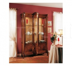Classic display cabinet Living room  - ROYAL NOCE / Showcase 2 doors with fixed central body
