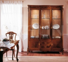 Classic display cabinet Library  - ROYAL NOCE / Showcase with 3 doors