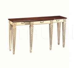 Console with carvin and three drawers