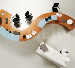 Wood office furniture - Office wood furniture - QUADRIFOGLIO