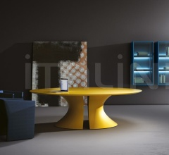 Ola meeting table Giallo lacquered