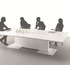 Anyware meeting table with central rail for Turnable Screen.