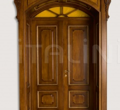 RE SOLE 3014/QQ  with TQ Re Sole New fan semicircular radial doorway with cathedral glass and panelling on the frame Classic Wood Interior Doors