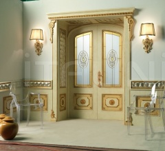 RE SOLE 3014/TQR/INT. INF./V  with TQR Re Sole New lowered arch doorway and panelling on the wall and frame with quilted Classic Wood Interior Doors