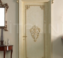 S. PIETROBURGO 1010/QQ/INT. Antiqued coated white-gold with carving Classic Wood Interior Doors