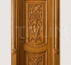 """LUIGI 4014/QQ/INT.  with type """"F"""" pillar coated light oak, with carved front panels Classic Wood Interior Doors"""