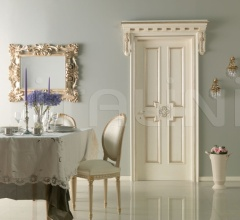 HERMITAGE 6016/QQ/SWA Polished aged silver with Four-leaf clover carving with Swarovski inserts Classic Wood Interior Doors