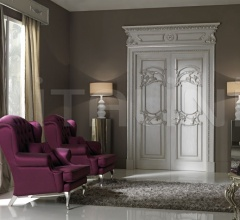 QUIRINALE 1023/QQ  brushed gray ash topcoat with silver Classic Wood Interior Doors