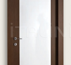 Mart Stam 1903/QQ/PL Wenge brush stained oak glossy white lacquered internal panel. Modern Interior Doors