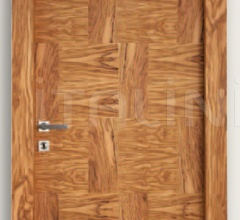 Giudetto Patch 1011/QQ/PW3 Patchwork oiled olive (type 3). Modern Interior Doors