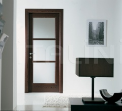 BUONTALENTI 1205/QQ/V Wenge with white frosted glass Modern Interior Doors