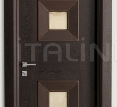 MONDRIAN CUOIO 914/QQ/10 Wenge and leather alabaster inserts 10 Modern Interior Doors