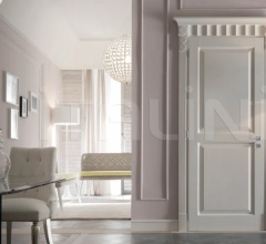 KORINTHOS 1398/QQ 2535 glossy white 100 gloss lacquered casing with cyma korinto Modern Interior Doors