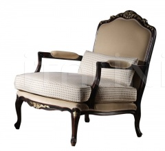 Carved armchair with seat and fully padded back BR.0253