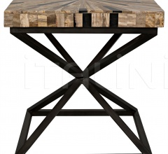 Peleus Side Table, Fossil and Metal AI-103