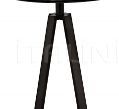 Compasso Side Table, Metal and Black Marble AI-62BM