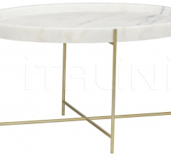 Che Cocktail Table, Antique Brass, Metal and Stone GTAB1018MB