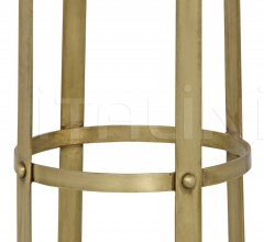 Prince Stool, Gold with Leather GSTOOL146GD-L