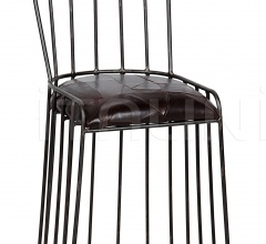 David Counter Stool, Metal and Leather GSTOOL230MT-S
