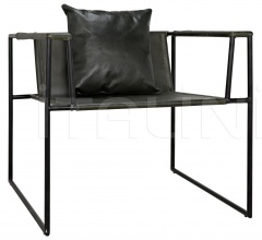 Reinhold Chair w/Leather, Iron AF-25