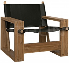 Agamemnon Chair, Teak and Leather AF-26