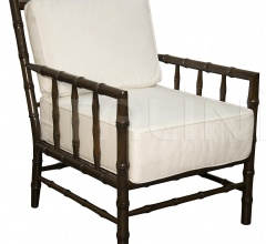 Bamboo Relax Chair, Distressed Brown SOF102D