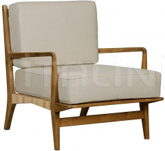 QS Allister Chair, Teak and Rattan SOF202T
