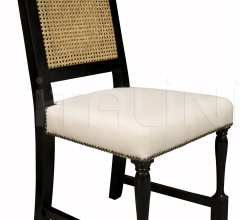 Colonial Caning Chair, Distressed Black GCHA110D1
