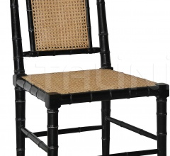 Colonial Bamboo Side Chair, Hand Rubbed Black GCHA126HB