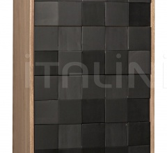 Bovery Hutch, Washed Walnut & Charcoal Finish GHUT139