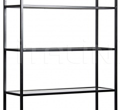 Zhao Bookcase, Metal and Antiqued Mirror GBCS152MT