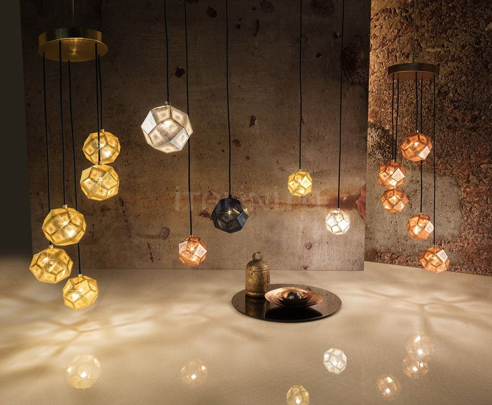 Люстра ETCH MINI CHANDELIER BRASS Tom Dixon