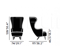 Кресло WINGBACK CHAIR Tom Dixon