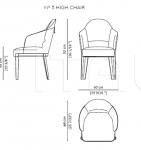 Стул N° 5 High & Low chair Paolo Castelli